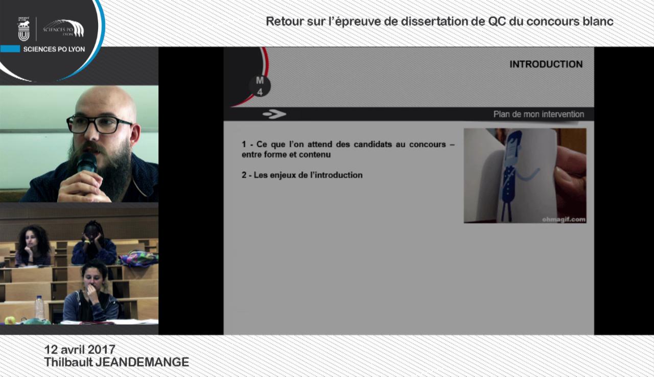12/04/20174: Retour sur l'épreuve de dissertation de QC du concours blanc - Thibault JEANDEMANGE